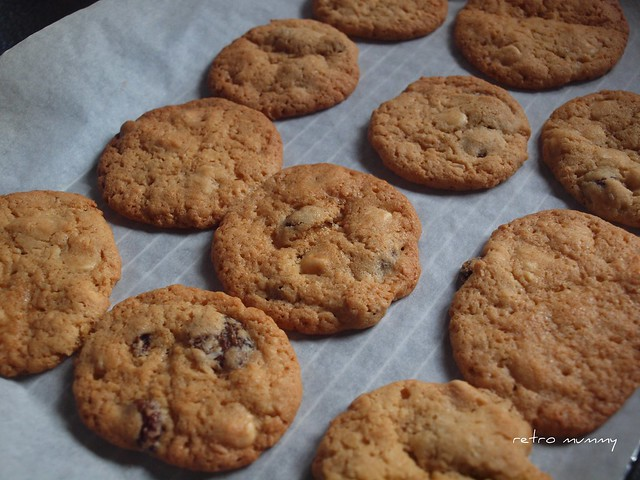 cookies hot out of the oven