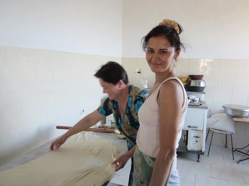 The lovely Turkmen cooks.