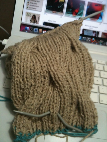 Llama Cowl in progress