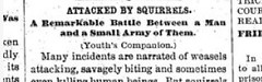 Squirrel Attack Headline -- from the 1800s!