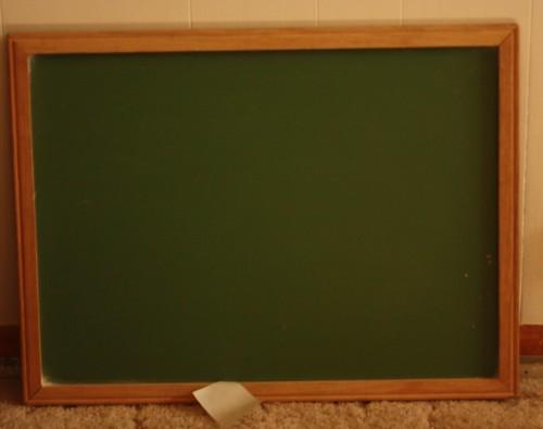 Chalkboard Before