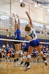 Freshman Volleyball 0083-33.jpg (LincolnEastSpartans) Tags: blue school sports field sport high nebraska stadium september east lincoln volleyball athletes freshman athlete spartan northstar spartans 2011 millardnorth