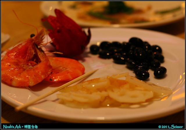 蓮藕 蓮花 黑豆 酒灼蝦