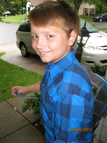 9/6/11: New 6th grader, little fish in big pond.