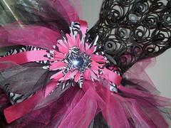My first tutu :) (kelli.bergin) Tags: pink white black flower cute children toddler punk crafts homemade zebra ribbo