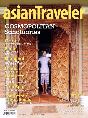 AsianTraveler magazine Cosmopolitan Sanctuaries cover
