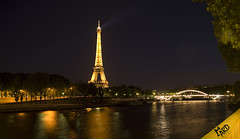 Paris - Tour Eiffel et pont illumin (Draner276) Tags: paris night town pentax eiffeltower toureiffel capitale nuit ville ard tamron18200 k20d frenchcapital