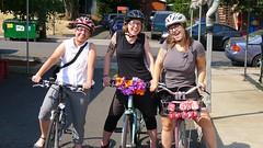 Staff participating in Bike Commute Challenge