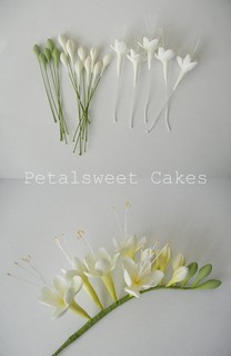 Work in Progress (Freesia) by Petalsweet Cakes