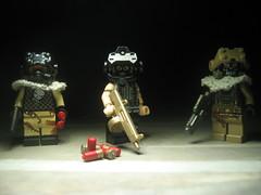 Post Apoc Task Force (Da-Puma) Tags: shadows post lego shell acs shotgun bomb prototypes apoc e11 aa12 brickarms td9