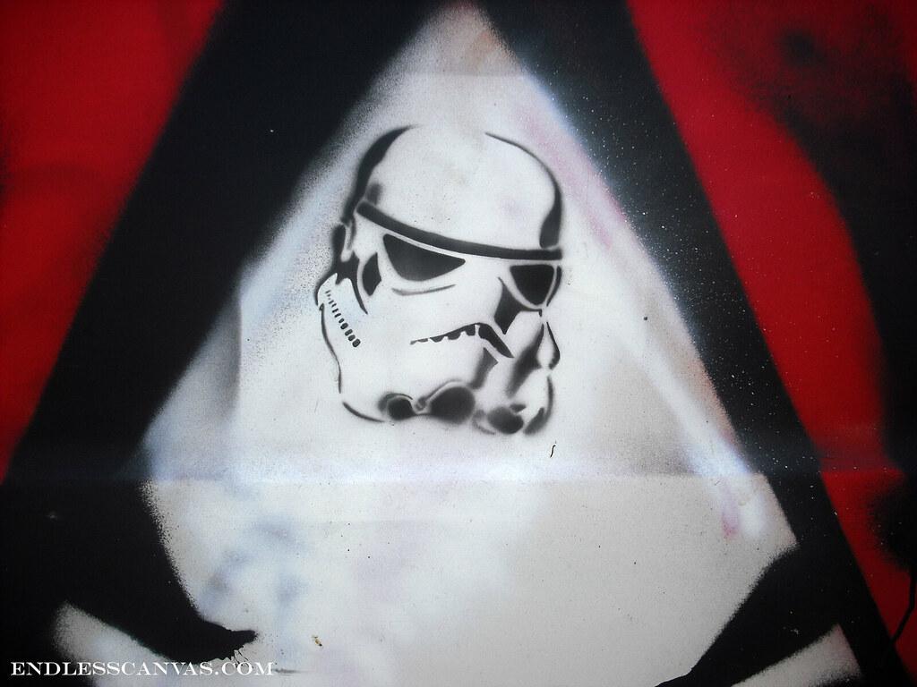 stormtrooper stencil - Oakland, Ca