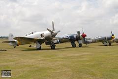 F-AZXL & G-RNHF & NX20MD - Hawker Sea Fury T20 & Fury FB10 - 110710 - Duxford - Steven Gray - IMG_5379