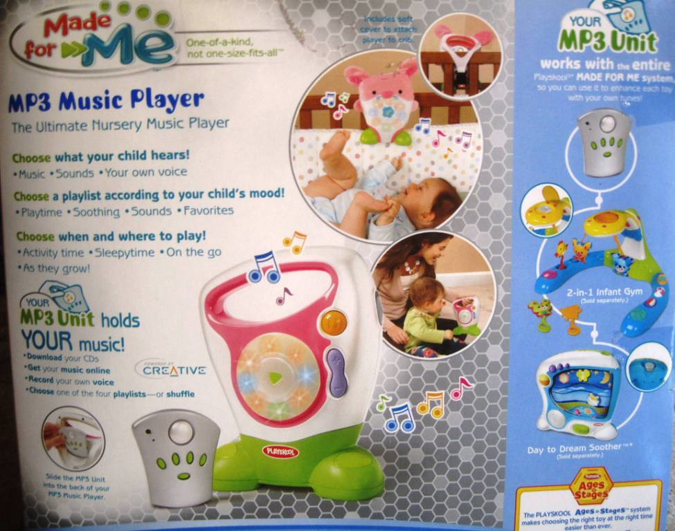 $75 - Very Hard to Find Pink Playskool Made for Me MP3 player w/ original packaging.
