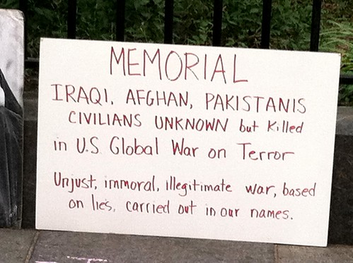 "Memorial for victims of the US Govt's ""Global War on Terror"""