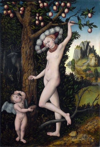 Lucas Cranach the Elder - Cupid Complaining to Venus [c.1525] by Gandalf's Gallery
