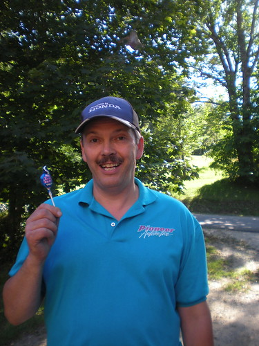 Million Mile Joe with a blue lollipop!