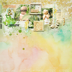 every child is an :: ARTIST :: (ania-maria) Tags: flowers boy girl scrapbooking children layout paint artist child daughter son lo watercolour forgetmenot watercolors prima annamaria scrap gesso forgetmenots ecoline primamarketing anartist studiocalico makowepole aniamaria