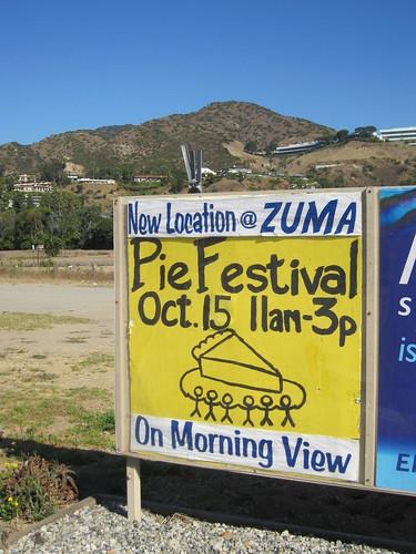 pie festival sign