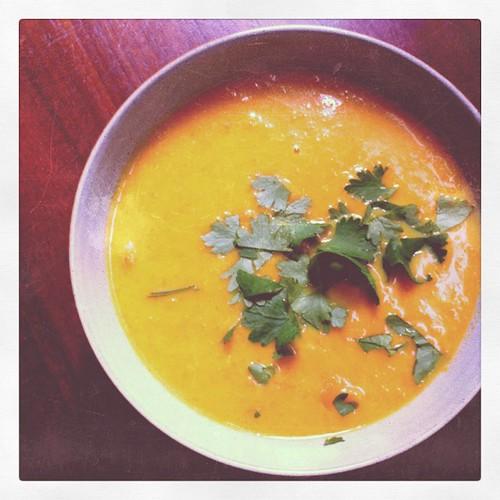 Szechuan carrot soup