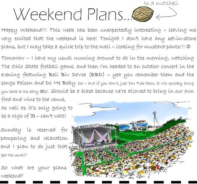 weekend plans 9.16.11