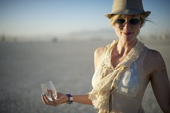 Sake Sunset Tradition (wtbzl) Tags: nicole nevada burningman blackrockcity brc bm falseprofit blackrockdesert ritesofpassage bm11 burningman2011 bm2011 sidneysultramegafaves2011fuckyeah sidneysultramegafaves2011portraits