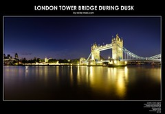 London Tower Bridge During Dusk (Victor Marz) Tags: longexposure greatbritain bridge england panorama reflection london art beautiful horizontal architecture towerbridge landscape twilight lowlight symbol dusk awesome wide wideangle wallart landmark icon stunning suspensionbridge highlight marvelous magnificent touristattraction waterscape londontowerbridge historicbuilding largeprint largeresolution