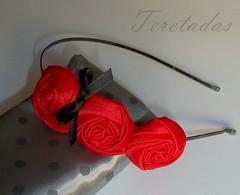 D.rosas3 1 (Teretadas) Tags: handmade headband hechoamano diademas fabricroses accesoriosparaelcabello rosadetela