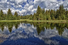Schwabachers Landing reflections -explore # 3 (Marvin Bredel) Tags: mountains nature water clouds reflections landscape 4 explore wyoming tetons marvin hdr jacksonhole grandtetonnationalpark number4 usnationalparks finegold schwabacherlanding explore3 nikcolorefex dragondaggeraward canoneosrebelt1i dragonclawaward nikhdrefexpro fineplatinum bredel marvinbredel finediamond