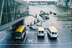 Crew in Boarding (a l e x . k) Tags: film airport pentax international chongqing lx jiangbei fa43mmf19 ckg