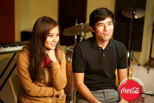 Champ and Kitchie at Coke Music Studio - 2