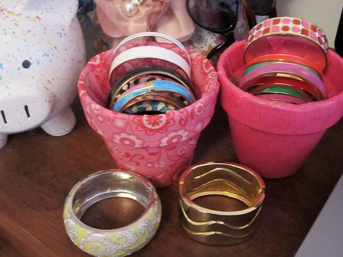 pots and bracelets