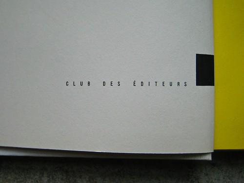 Colette (Sidonie-Gabrielle), Le blé en erbe; Club des éditeurs, (Flammarion), Paris 1956. p. 2 (part.), 1