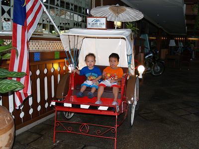 Boys on trishaw