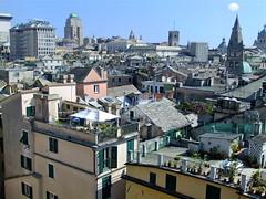 Genoa rooftops (OlBrug) Tags: roof italy panorama eye birds view rooftops genoa genova balconies tops genua