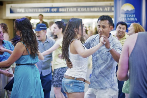 Salsa Dancing @ Robson Square, Aug. 7, 2011