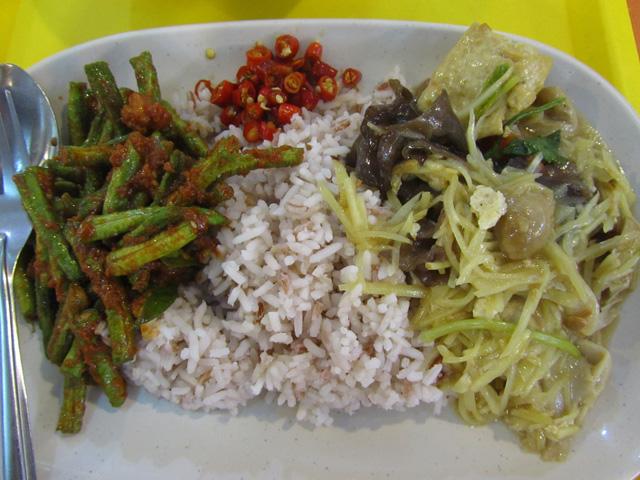 2 Dish Vegetarian Plate at MBK Shopping Center