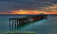 Sunny Isles Pier to Nowhere (Michael Pancier Photography) Tags: orange usa clouds sunrise pier aqua florida piers miamibeach atlanticocean 2011 sunnyisles floridabeaches commercialphotography naturephotographer piertonowhere michaelpancierphotography landscapephotographer fineartphotographer michaelapancier wwwmichaelpancierphotographycom sunnyislespier