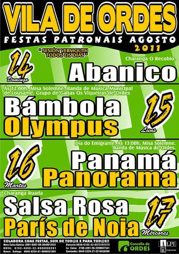 Ordes 2011 - Festas patronais - cartel
