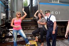 Lovely Ladies (ironmike9) Tags: railroad station rail railway adirondacks passenger adix adirondackscenicrailroad remsenny