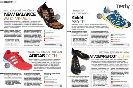 Testy: NB Minimus, adidas CC Chill, Keen A86, Vivobarefoot Ultra, Garmin 610 a Oakley Fast Jacket