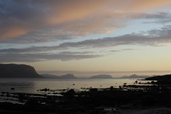 Gody (bluerapsody) Tags: sunset sea mountains beach norway heaven cloudy stones mreogromsdal gody fjordnorway