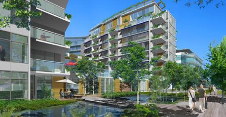 Dockside Green rendering (by: Perkins & Will via Meta Efficient)