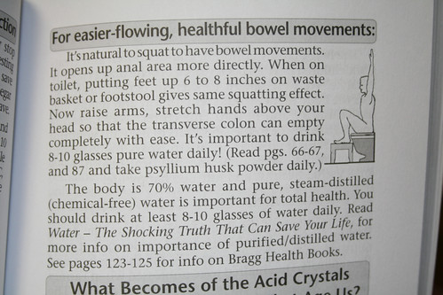 Easier, Healthful Bowel Movements