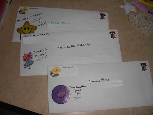 Letters Sent out to Nancy Price, Michelle Roberts, and Jennifer Burger