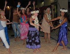 Leilani Showing Authenic Hawaiian Hula Dancing (StFrancis2) Tags: cats wow luau bow meow 2011