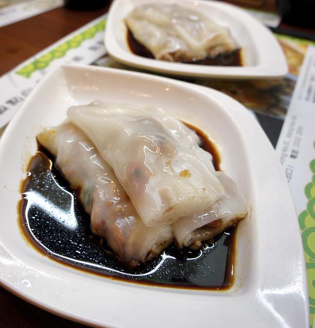 Tim Ho Wan: rice rolls
