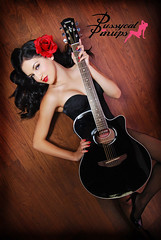 gaby-ramirez-singer pin up guitar (Pussycat Pinup Photography) Tags: california rock vintage losangeles photos guitar retro spanish teen latin singer orangecounty pinup pinups hairflower pinupstudio