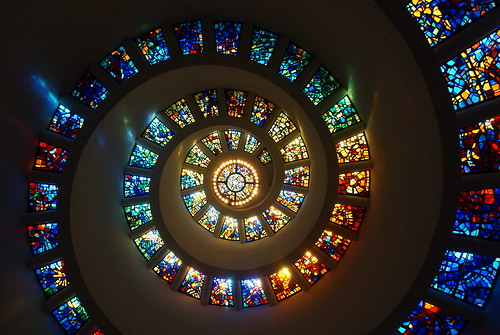 stain glass spiral