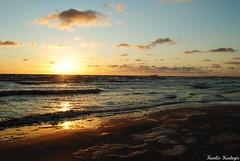 Ordinary (KadKarlis) Tags: sunset sea cloud sun beach nature beautiful night clouds sunrise landscape dawn photo seaside twilight nikon day waves shot wind baltic latvia liquid baltics d300 liepaja