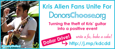 Kris Allen Fans Unite DonorsChoose Dollar Drive